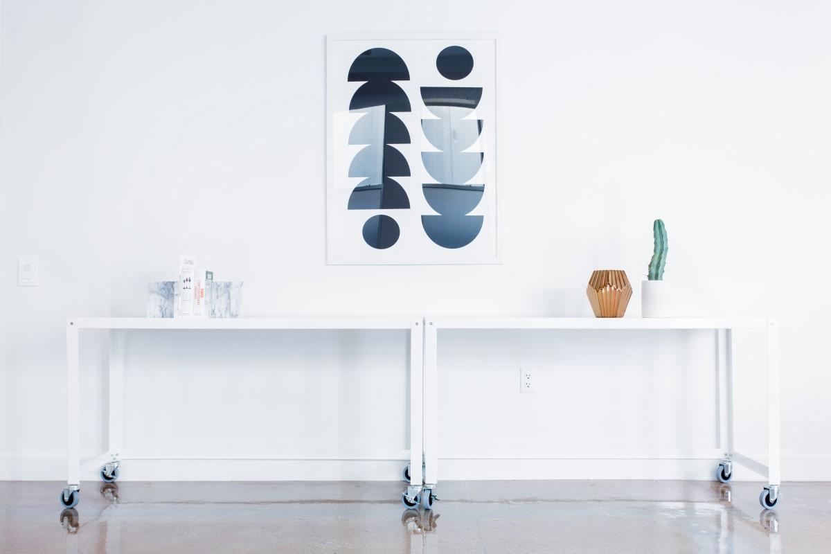 design meuble avec roue